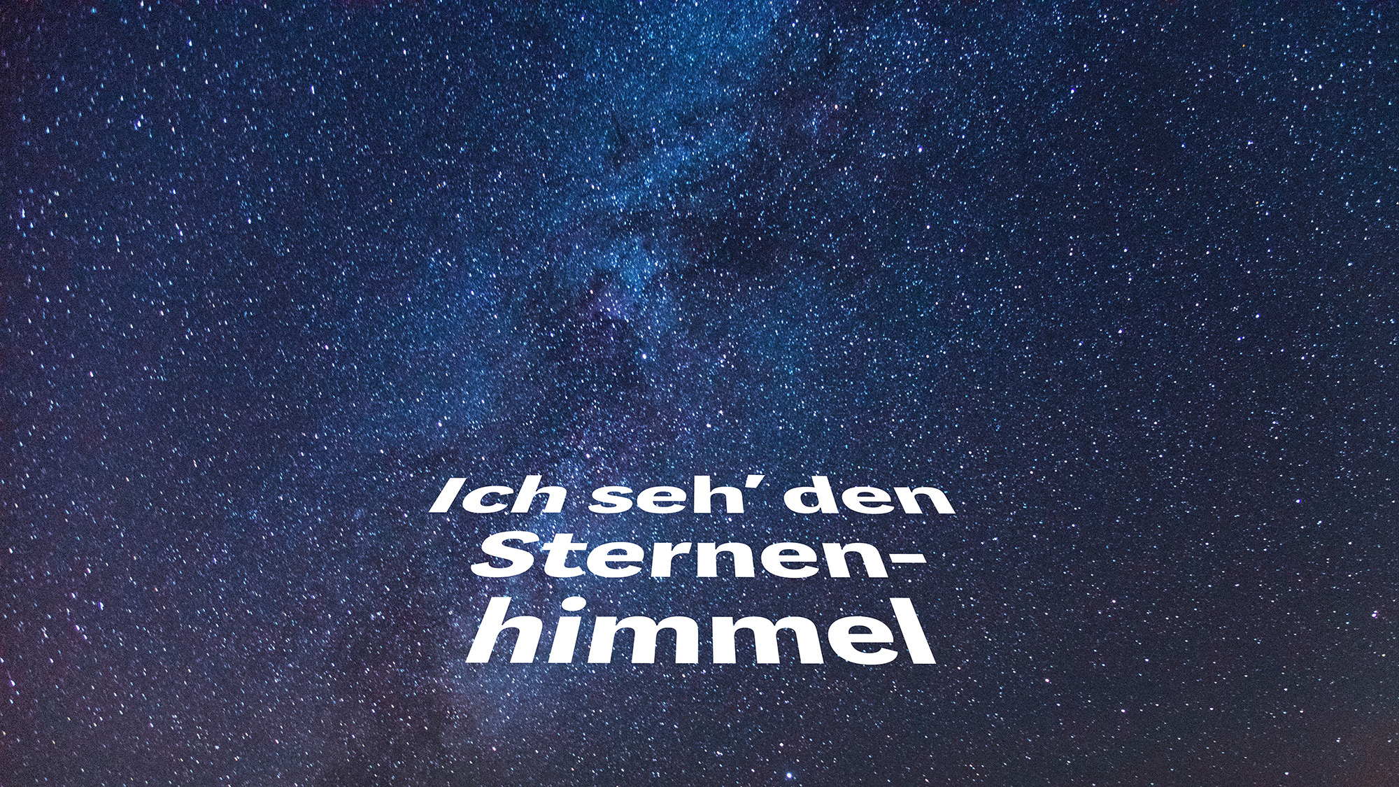#14: Ich seh den Sternenhimmel
